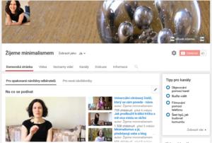 minimalismus, žijeme minimalismem, Marcela Sobotová, YouTube