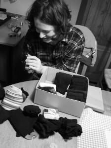 skládání ponožek podle Marie Kondo