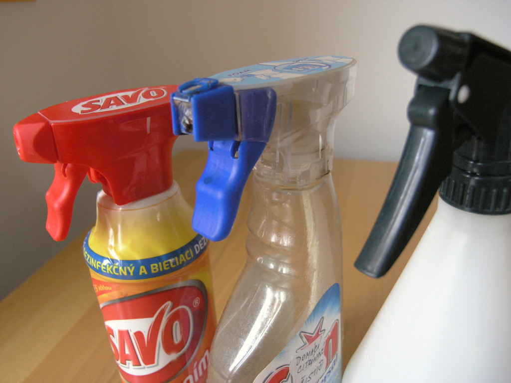 domáčí čističe, úklidové prostředky