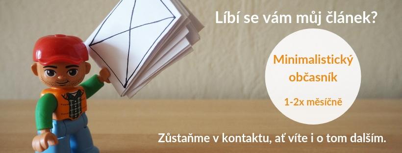 newsletter, minimalismus, Marcela Sobotová, Minimalistický občasník, novinky, střípky z minimalismu