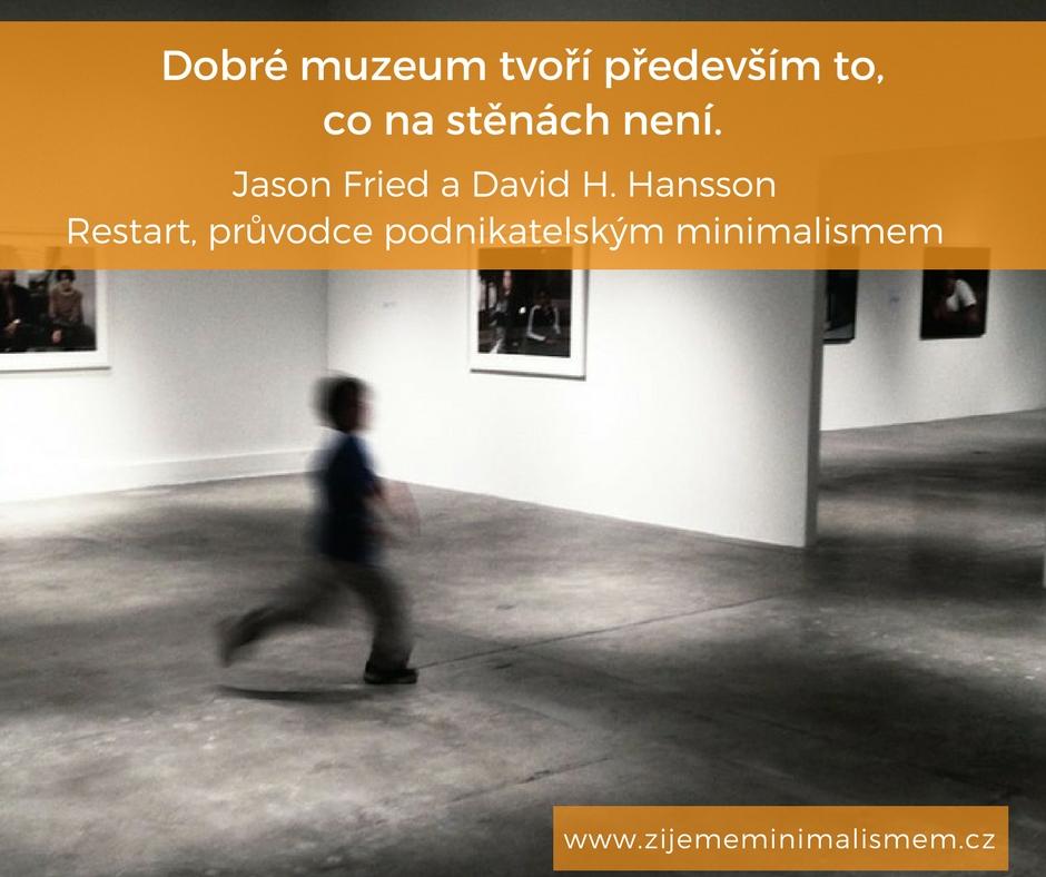 podnikatelský minimalismus, citát, Restart, Marcela Sobotová, recenze, 37signals