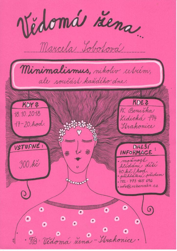 seminář, minimalismus, workshop, Marcela Sobotová, úklid, Strakonice - seminář, Rodinné centrum Beruška Strakonice