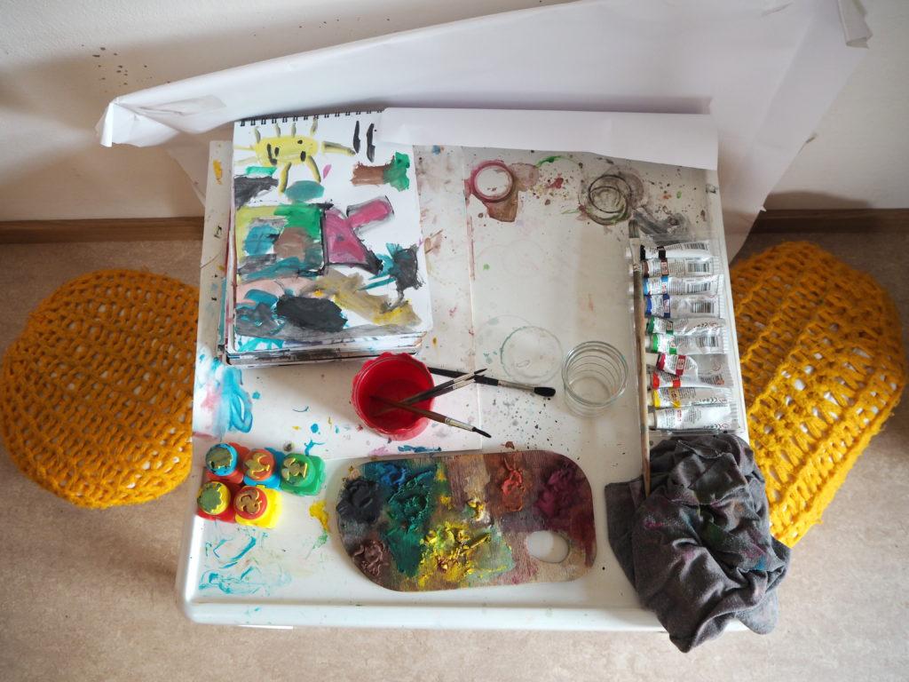 úklid, děti, malování