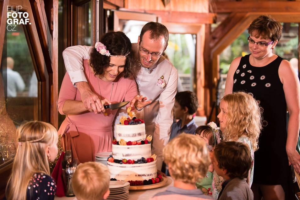 organizace svatby, dort