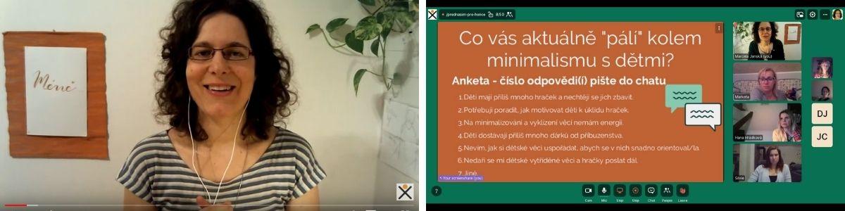 přednášky, online přednáška, minimalismus, Marcela Janská