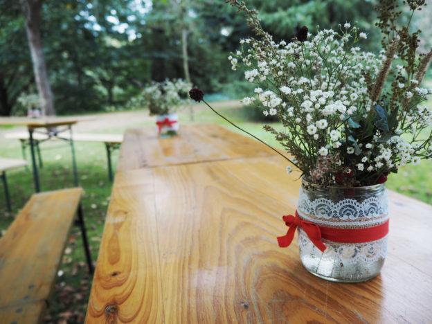 květinová výzdoba, svatba, minimalisticky